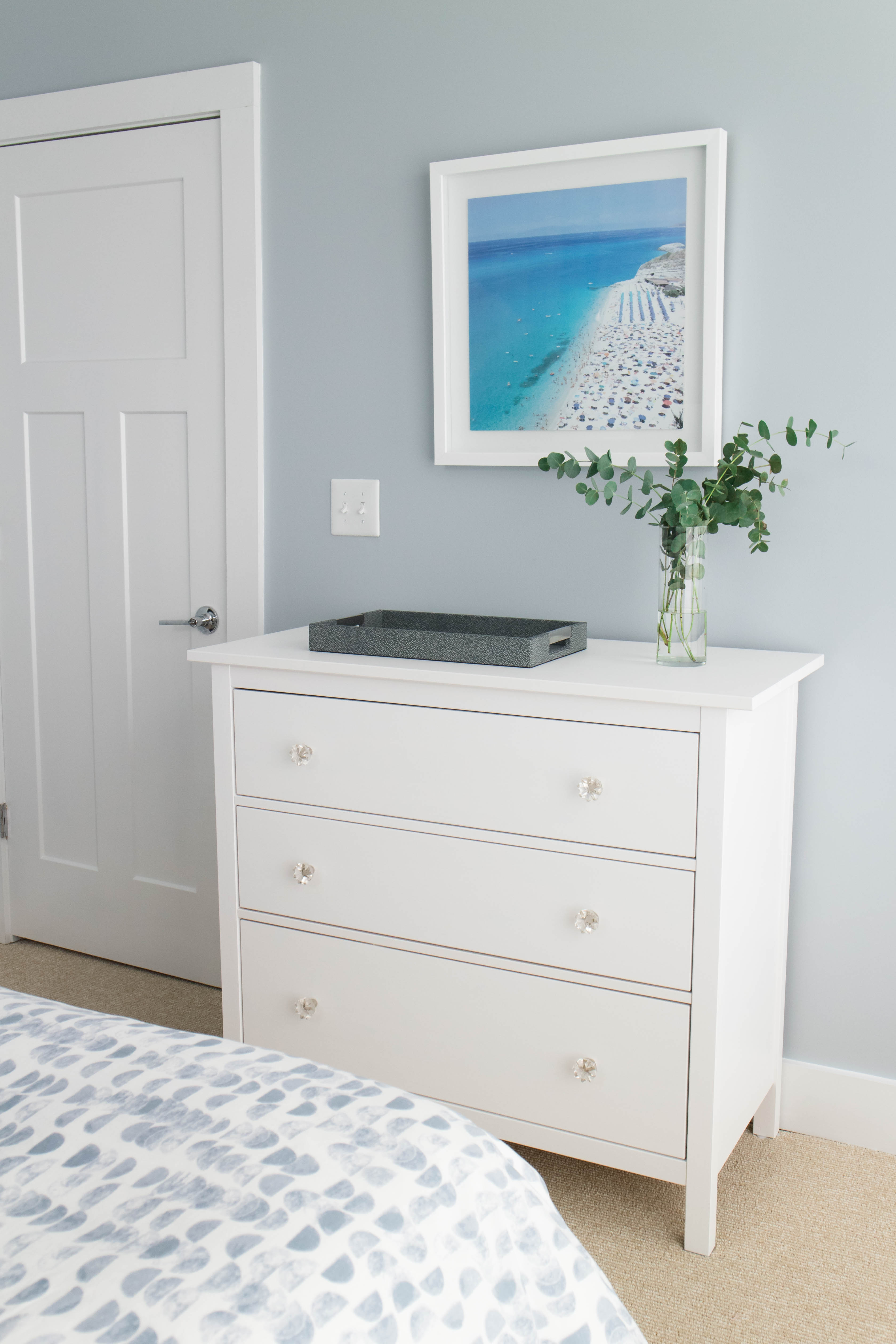 guest bedroom decor, ikea hemnes dresser
