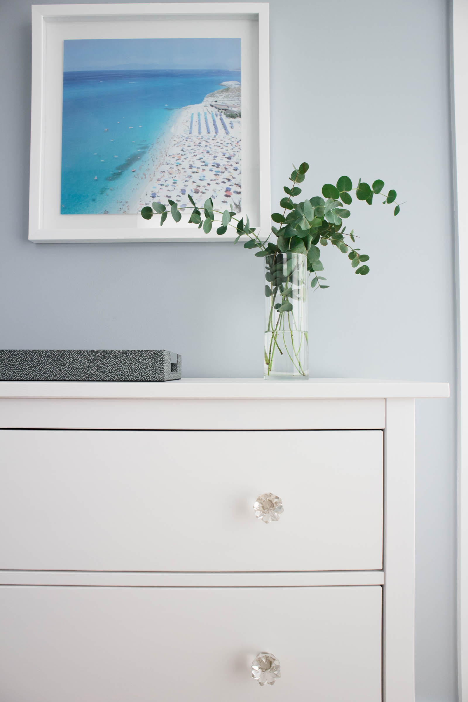 guest bedroom home tour, ikea hemnes dresser