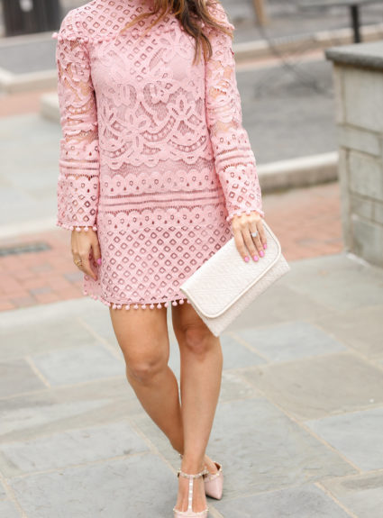 Blush Lace Dress + Tips for Shopping SheIn