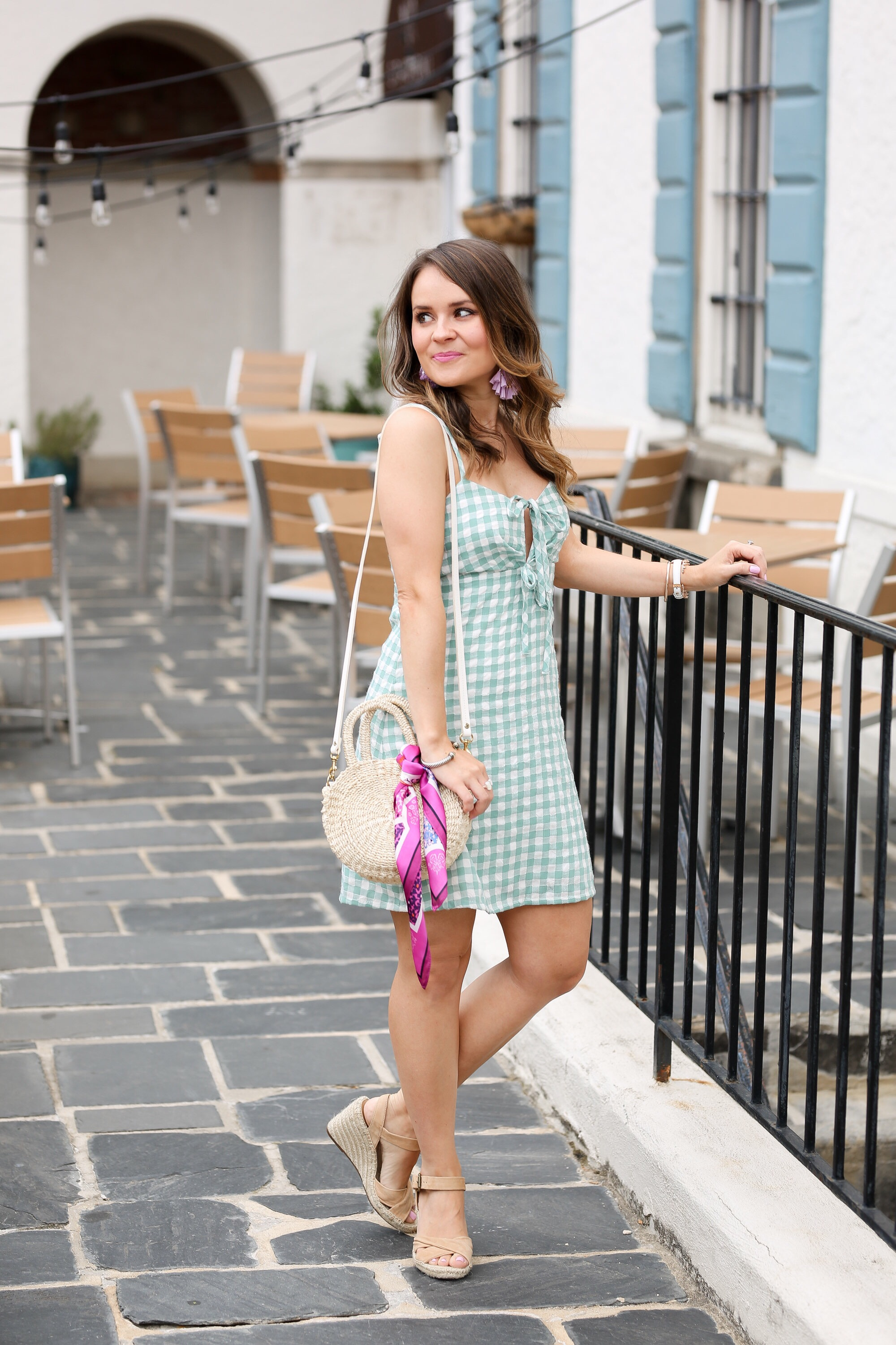 minkpink sage gingham dress