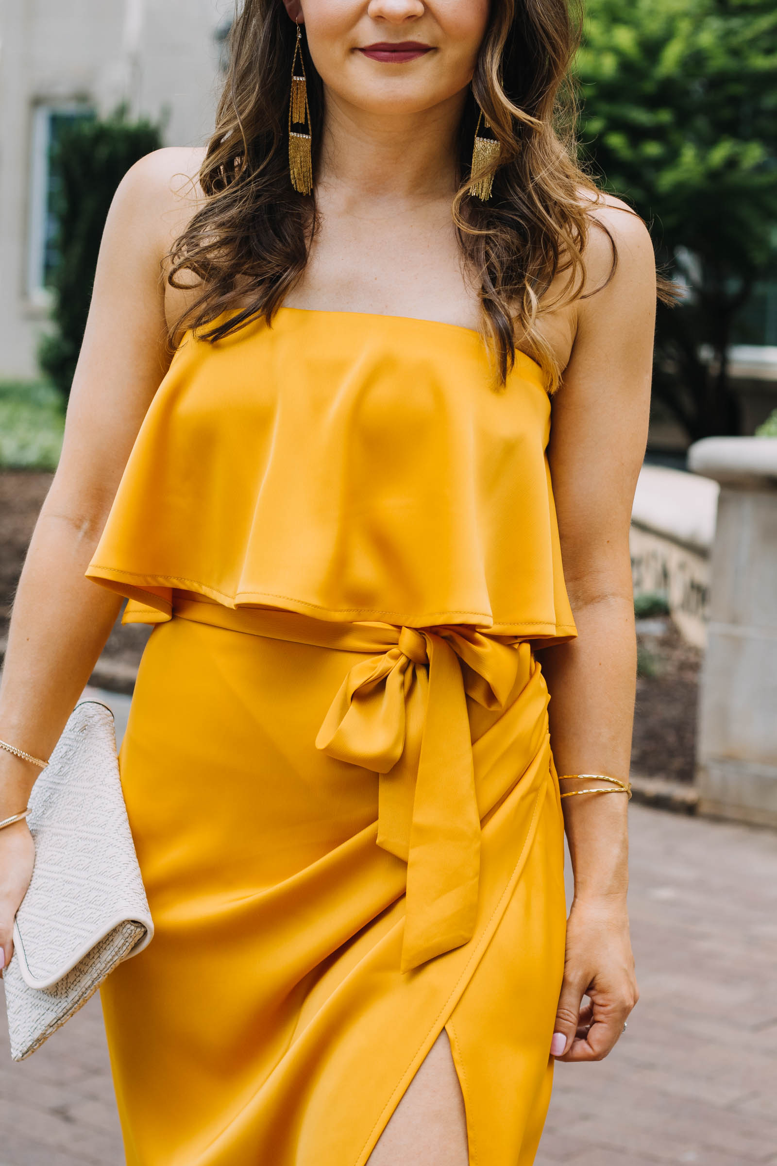 lovers and friends violet midi dress, yellow midi dress