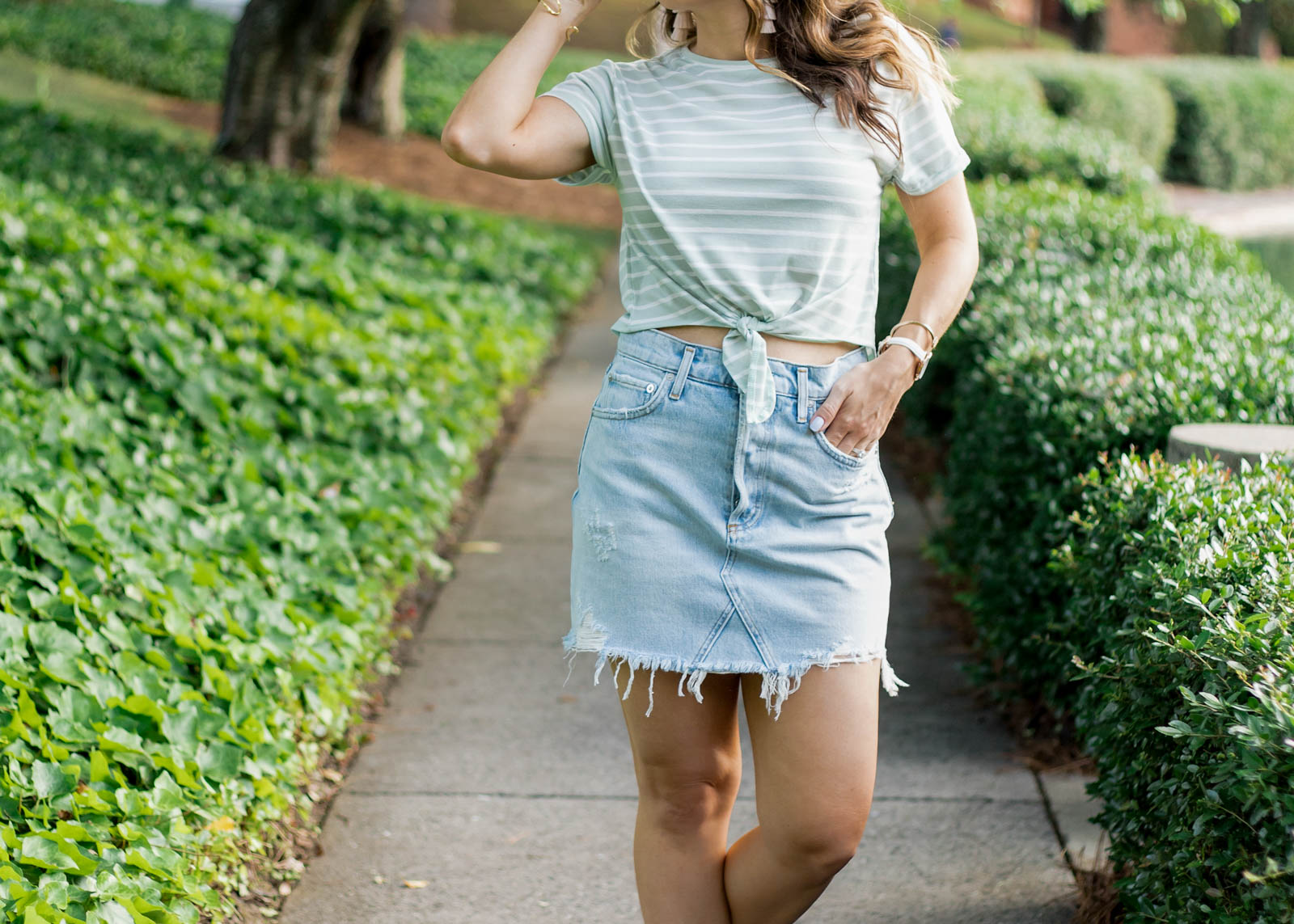 agolde quinn high rise skirt