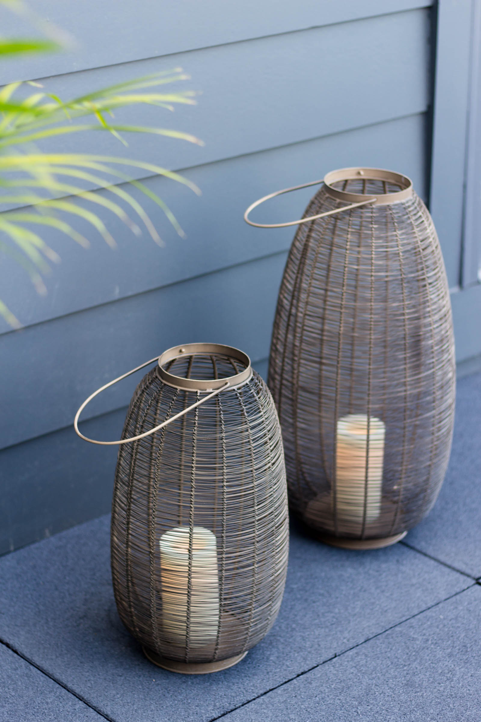 outdoor metal lanterns