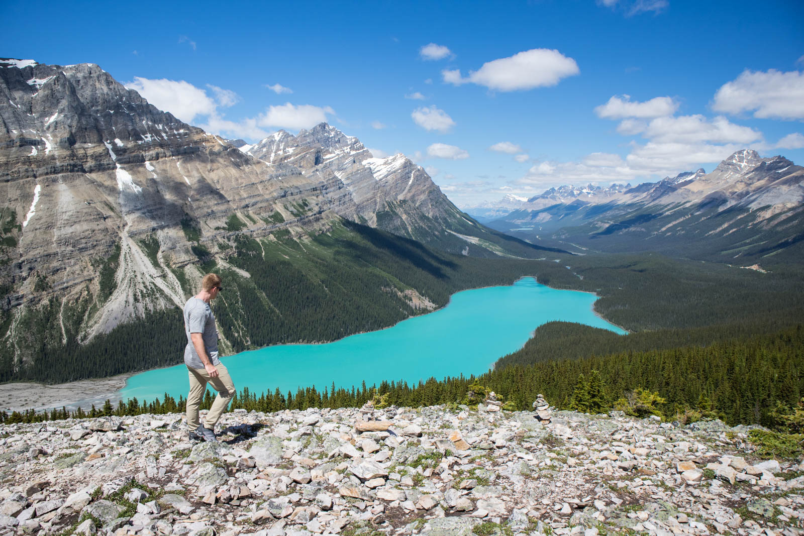 peyto lake bow summit