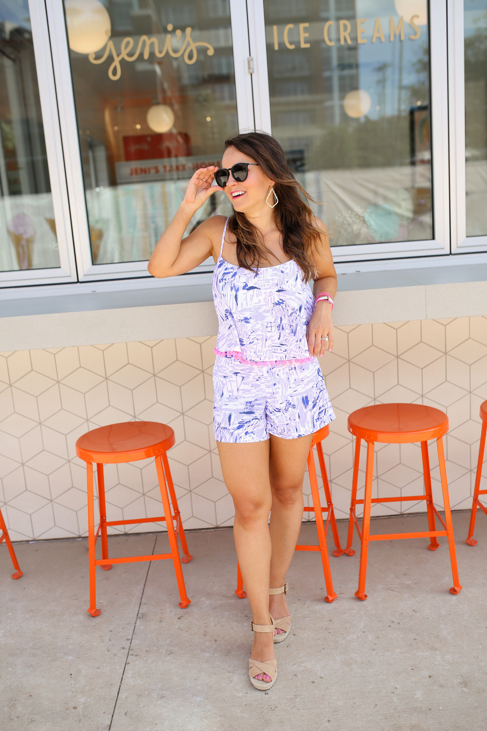 lilly pulitzer franni set, jeni's ice cream charlotte