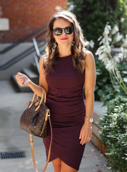 Transitional Fall Outfit: Burgundy & Booties