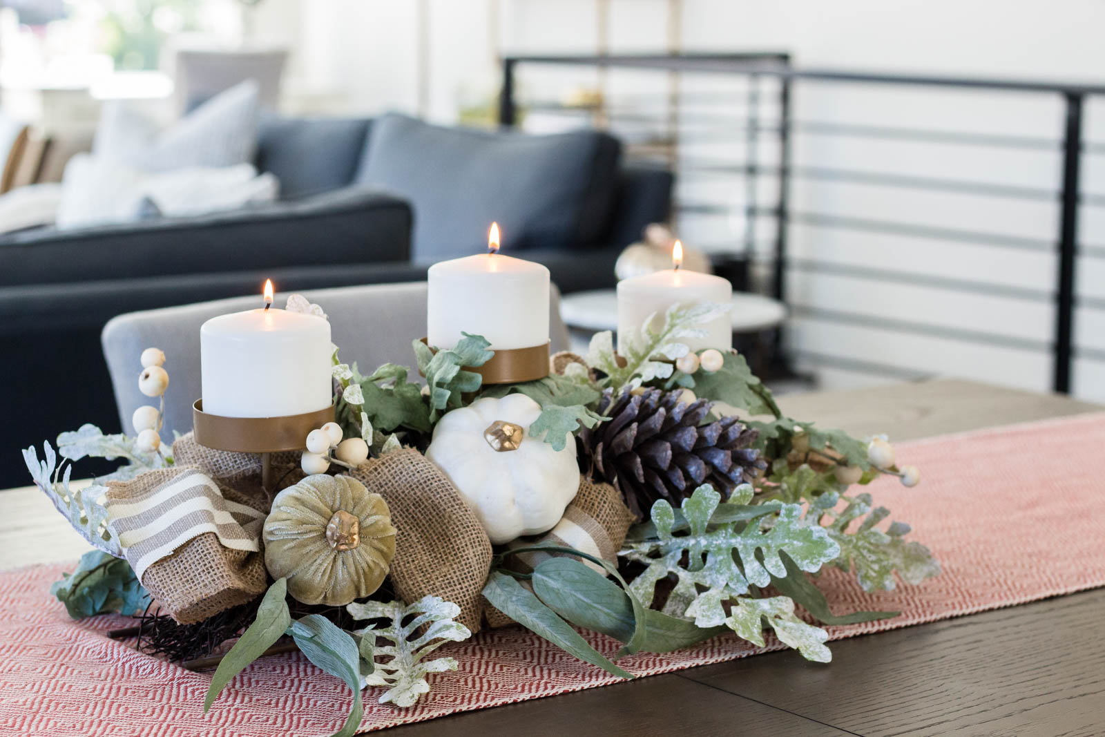 fall centerpiece, fall home decor