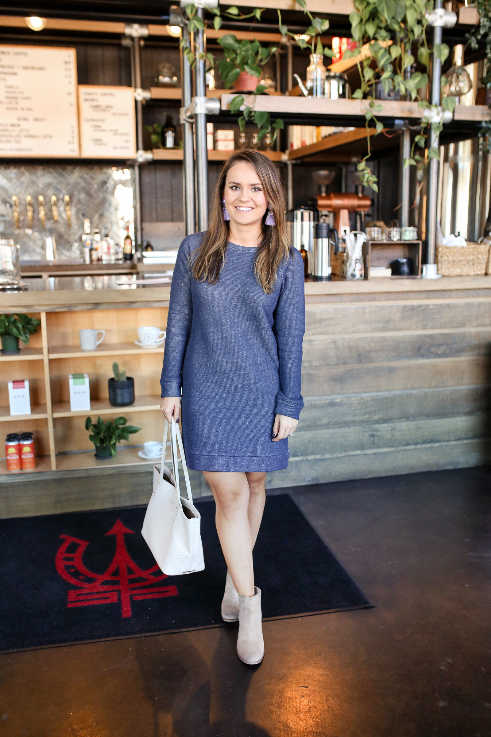 lou & grey sweatshirt dress