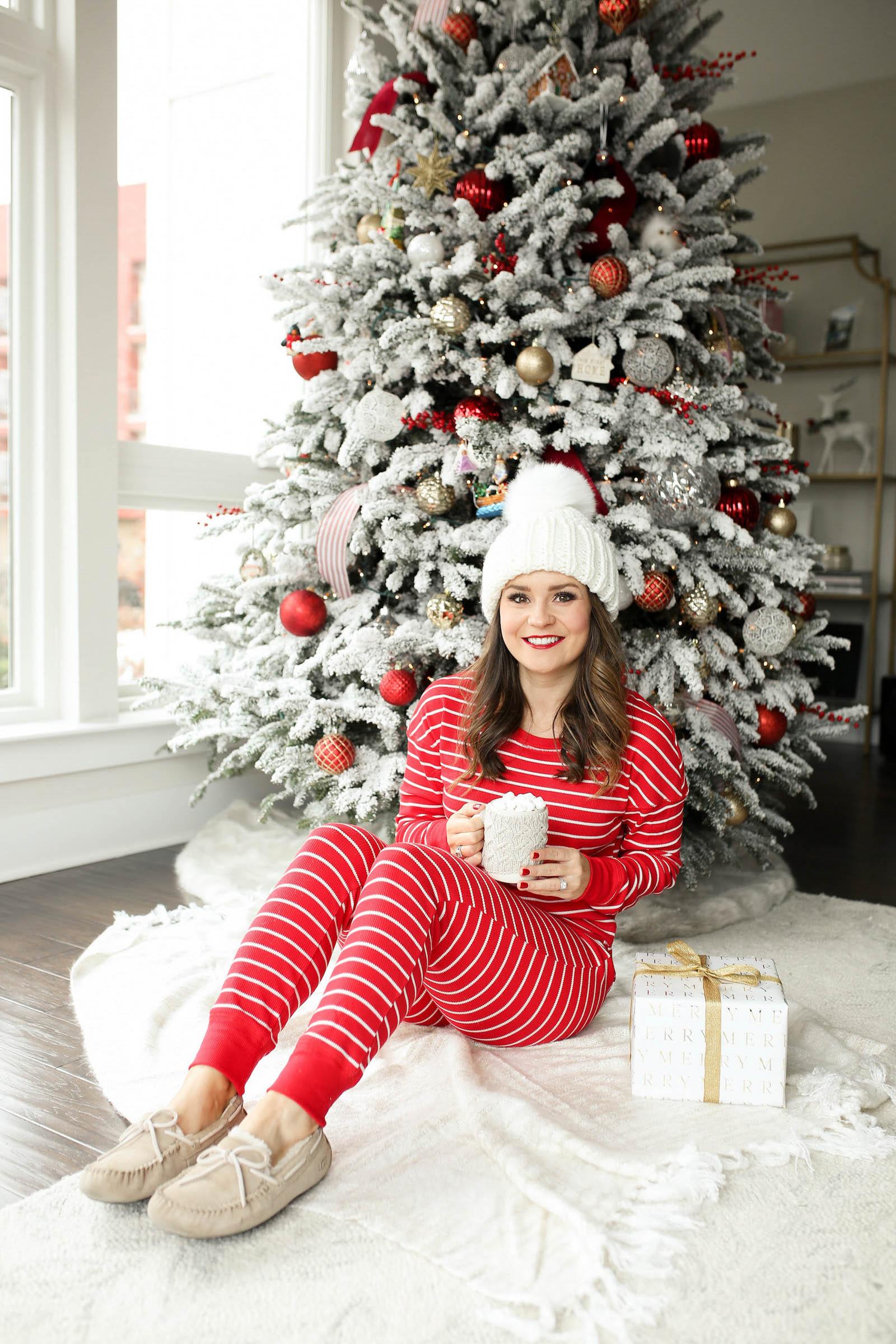 red Christmas pajamas