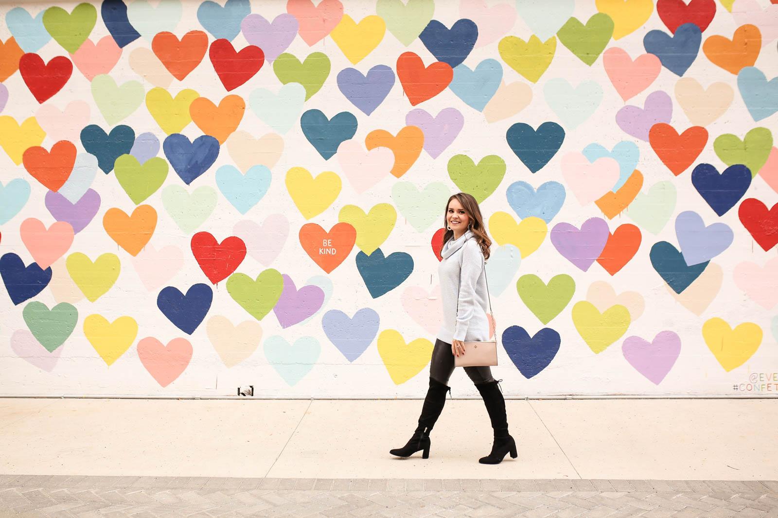confetti hearts wall Charlotte, wall mural Charlotte