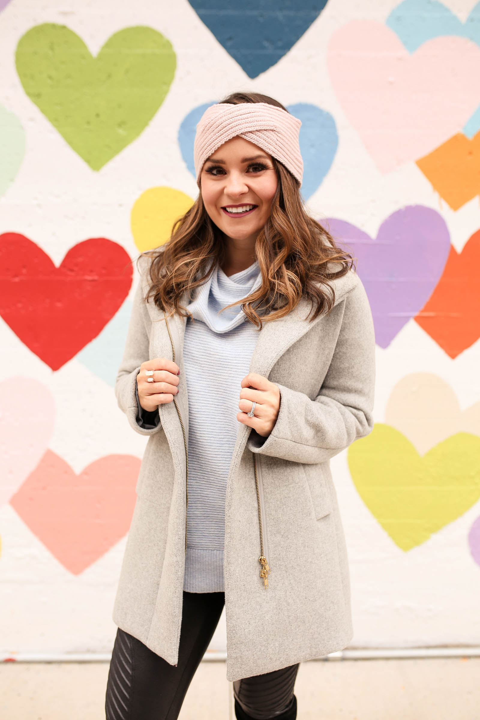 jcrew city coat, winter pastels