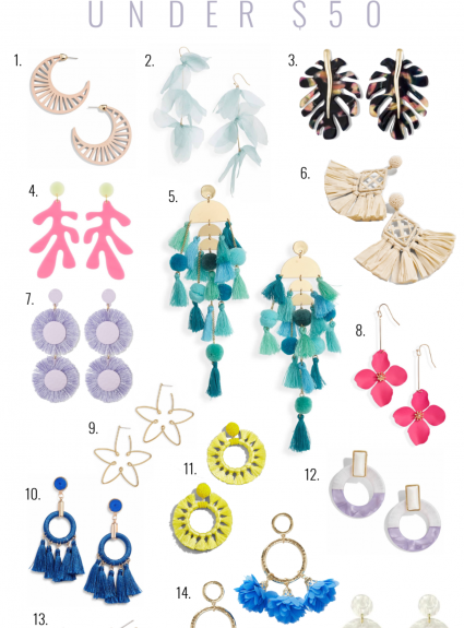 Spring Statement Earrings Under $50