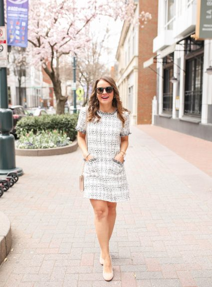 Tweed Shift Dress Under $15