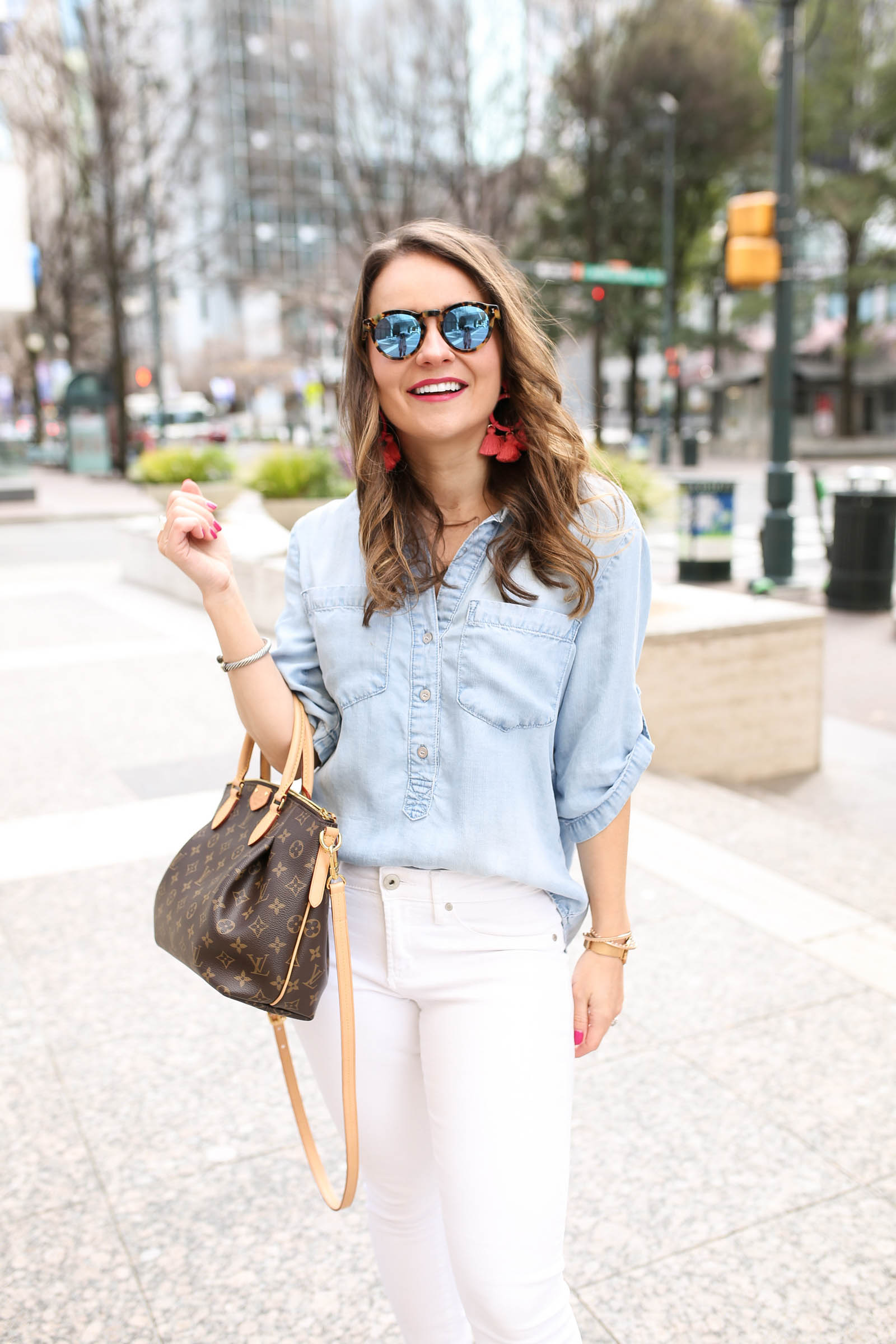 Bella Dahl chambray shirt