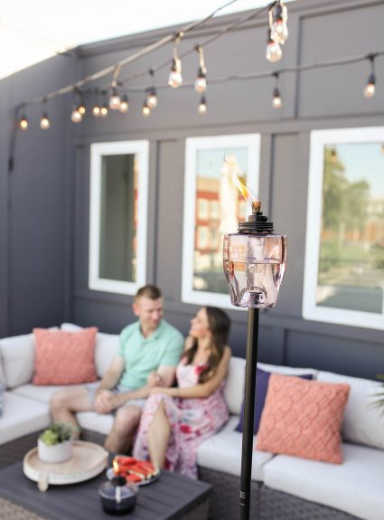 Rooftop Nights with TIKI Brand Clean Burn Torch Fuel