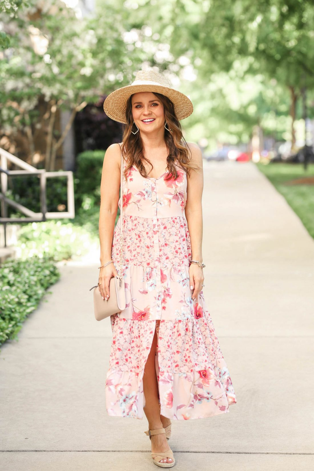 floral midi dress, spring style
