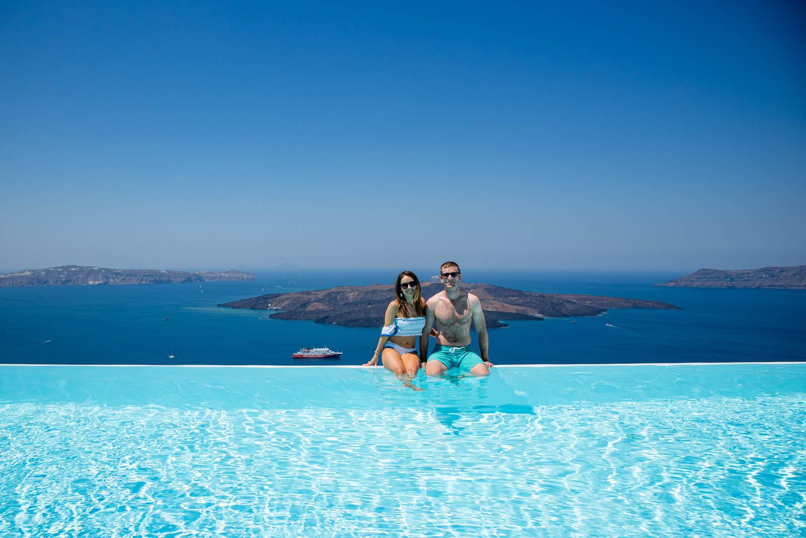 cosmopolitan suites Santorini , santorini infinity pool