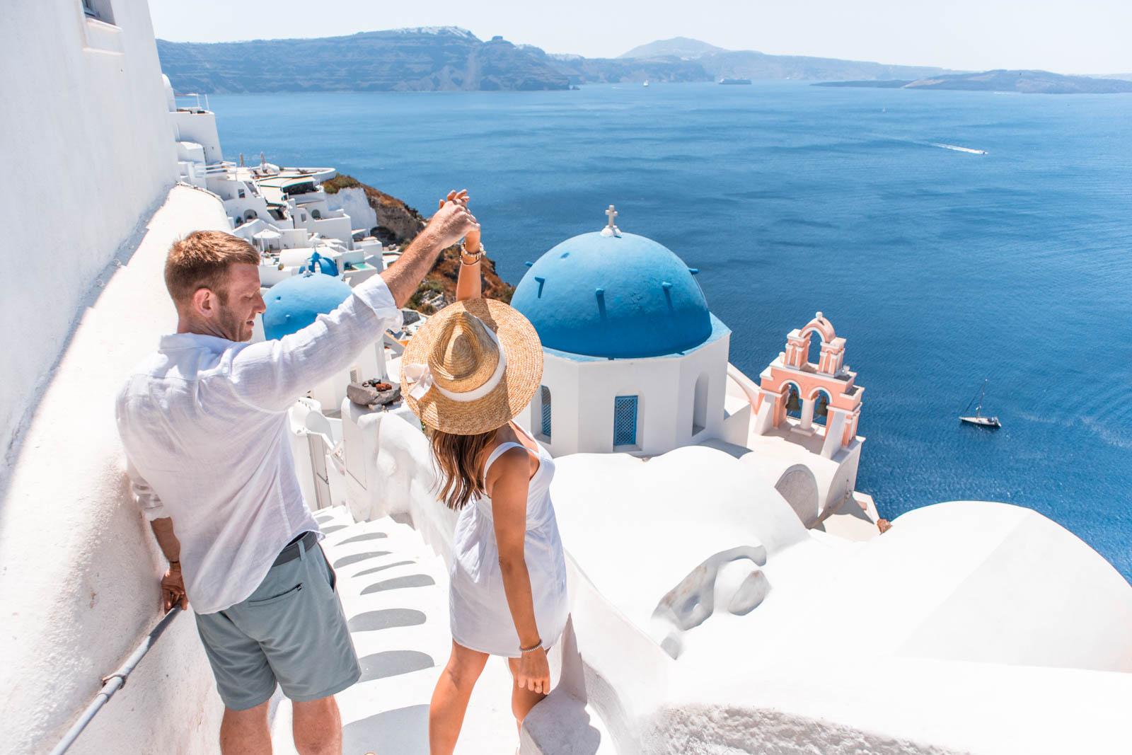 oia blue domes, santorini travel guide