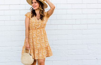 summer dress, yellow floral dress