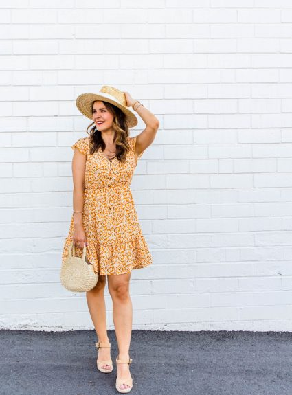 Yellow Floral Dress Under $25