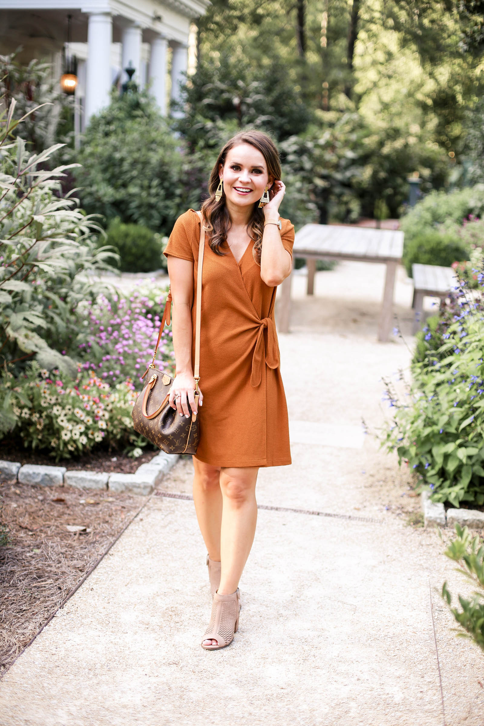 madewell mustard dress, fall dress