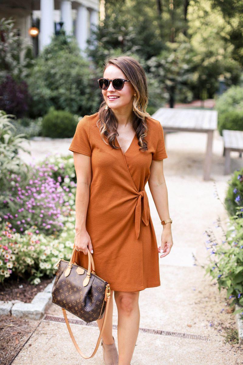 fall dress, madewell mustard dress