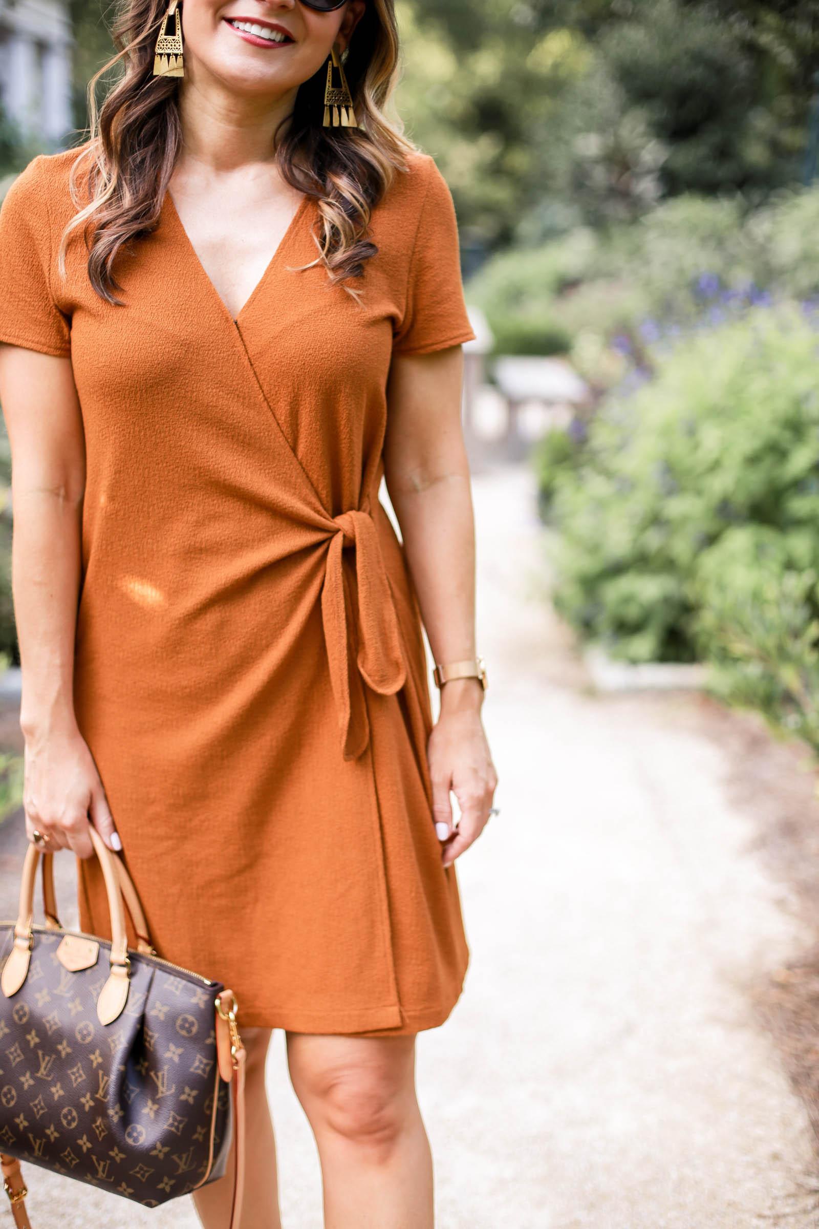 madewell Texture & Thread Short-Sleeve Side-Tie Dress