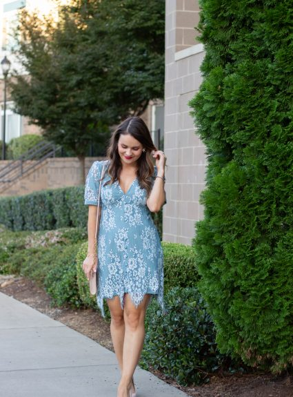 Blue Lace Dress Under $60