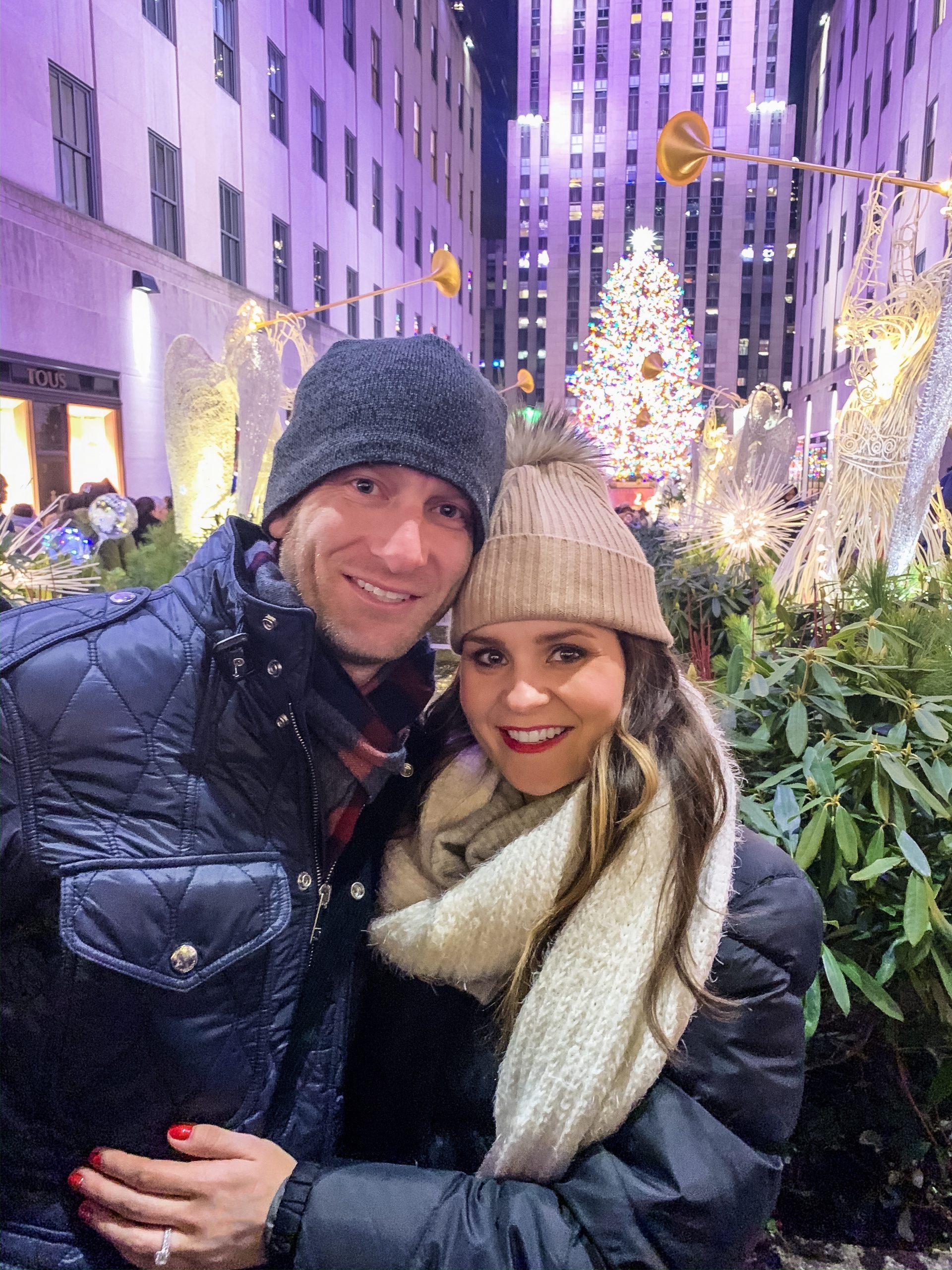 Rockefeller center Christmas tree, christmas in New York city