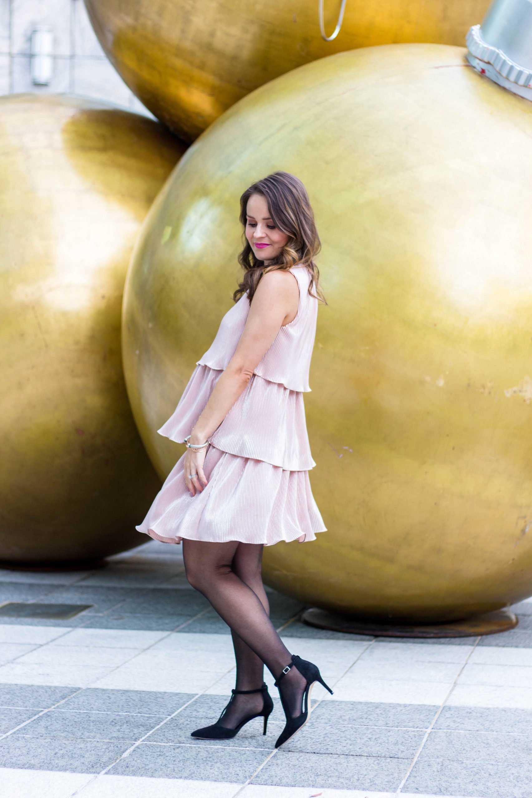 Estelle tiered tunic, blush tiered dress