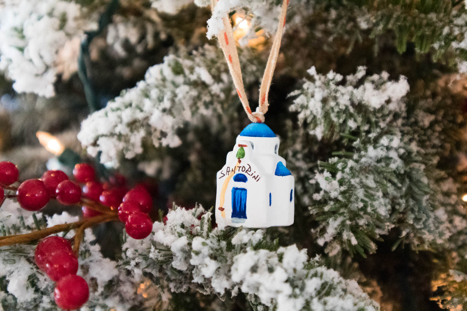 santorini ornament