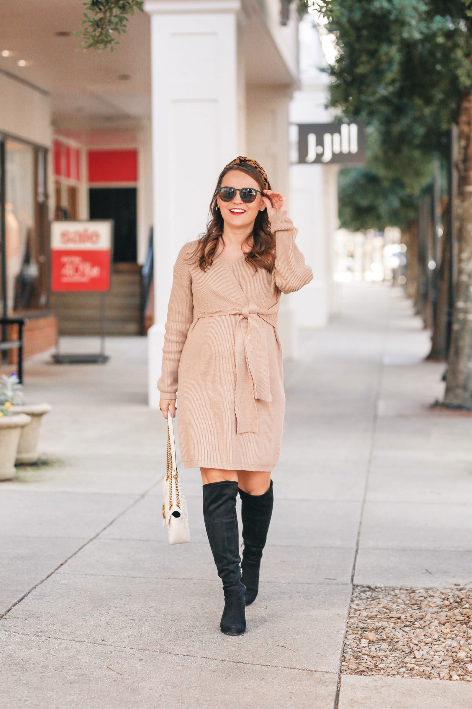 maternity sweater dress