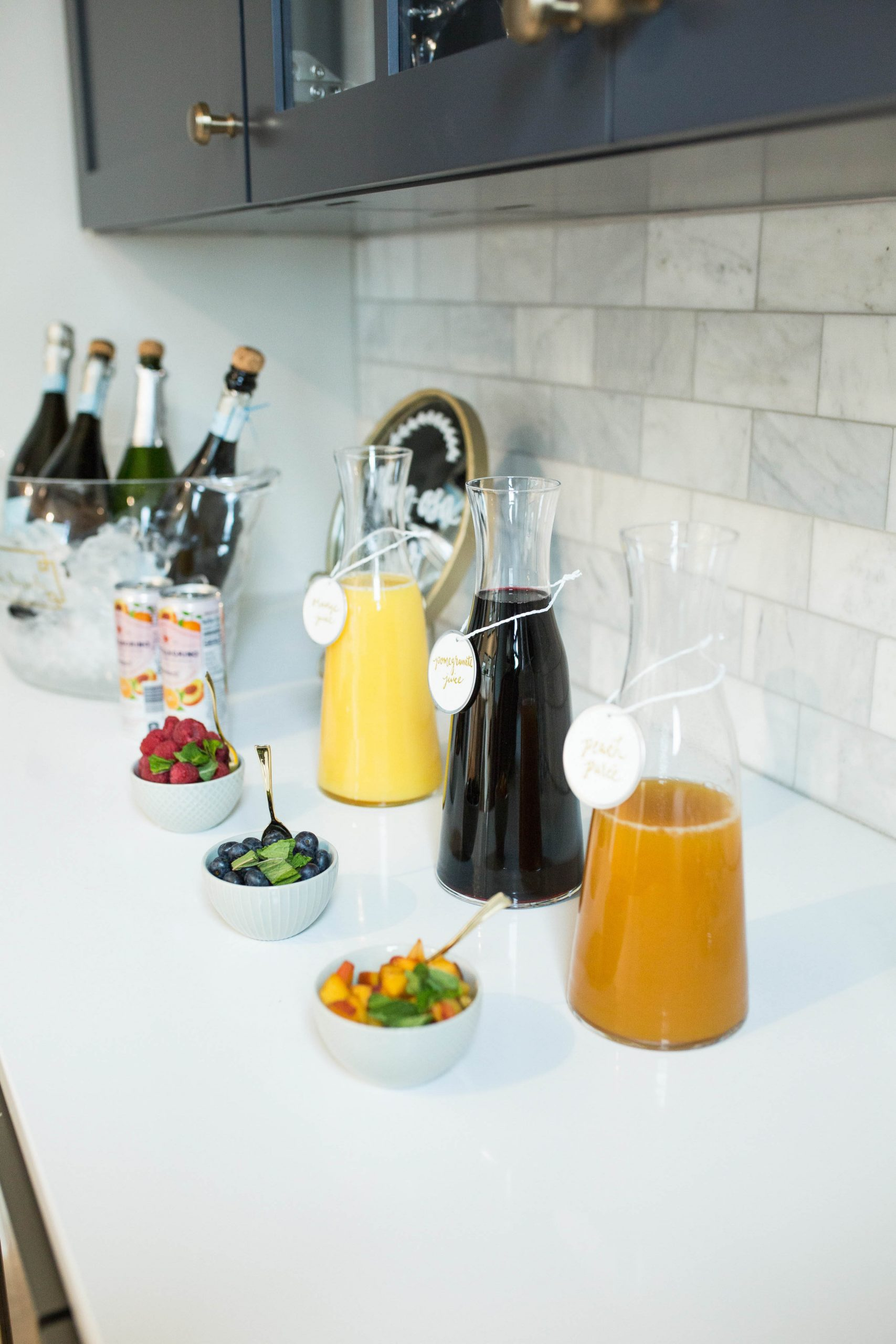 baby shower mimosa bar