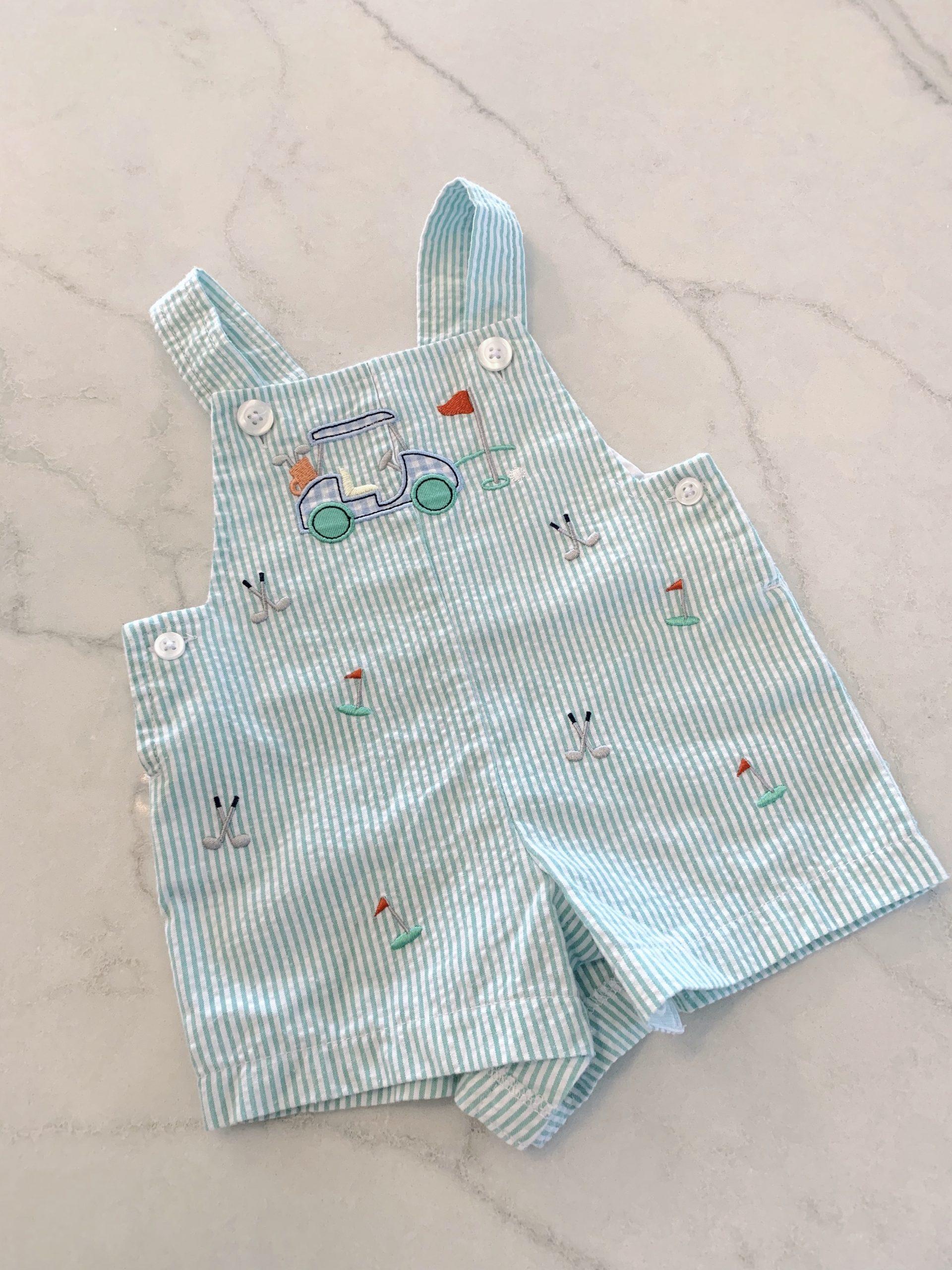 baby golf seersucker outfit
