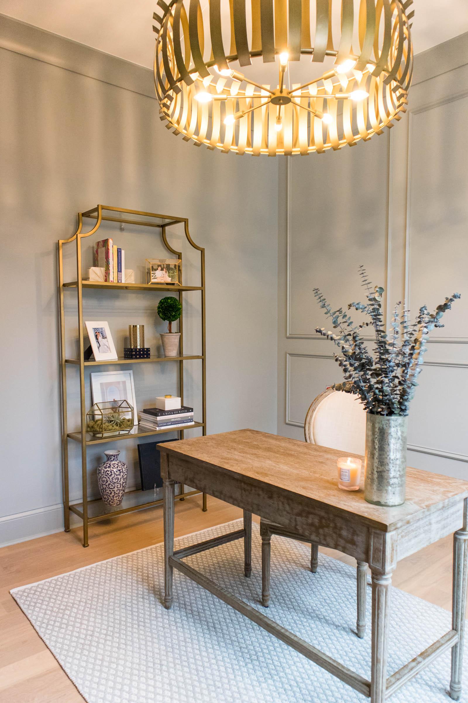 capital lighting Cayden 8 light chandelier, home office, home study