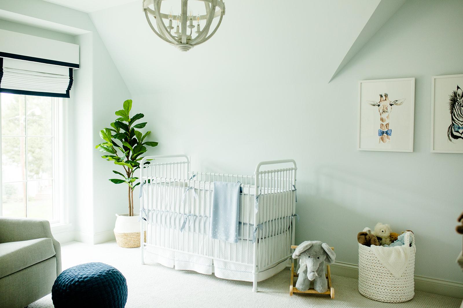 soft blue nursery design