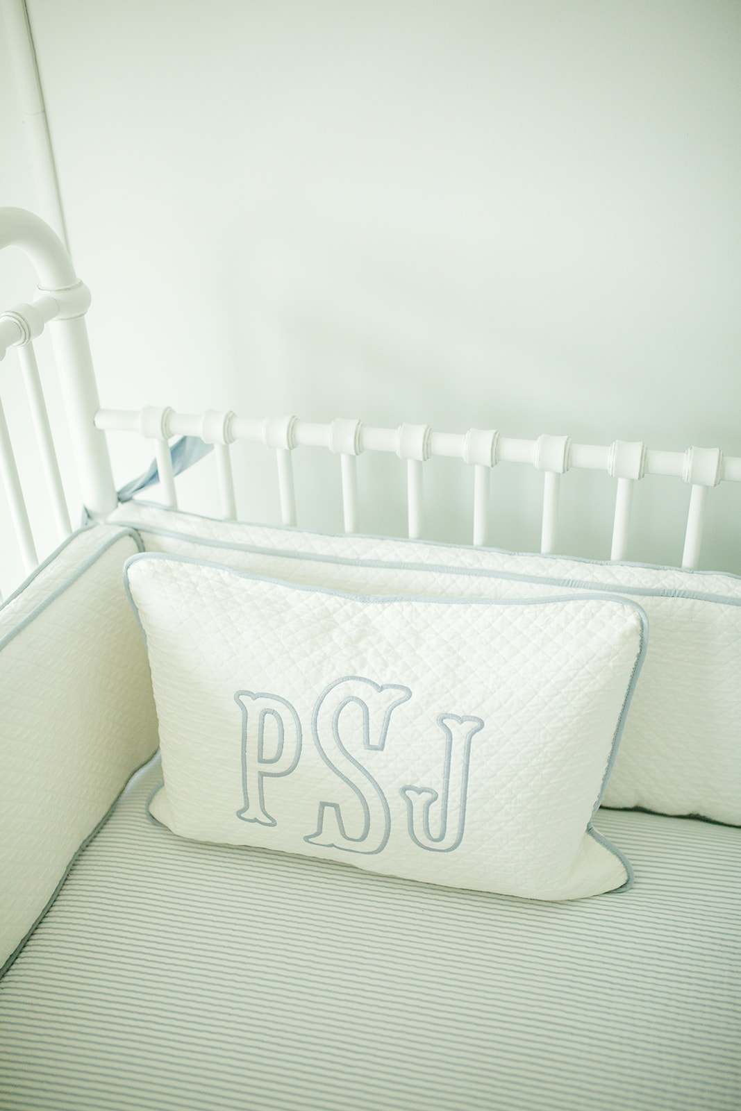 baby monogrammed pillow