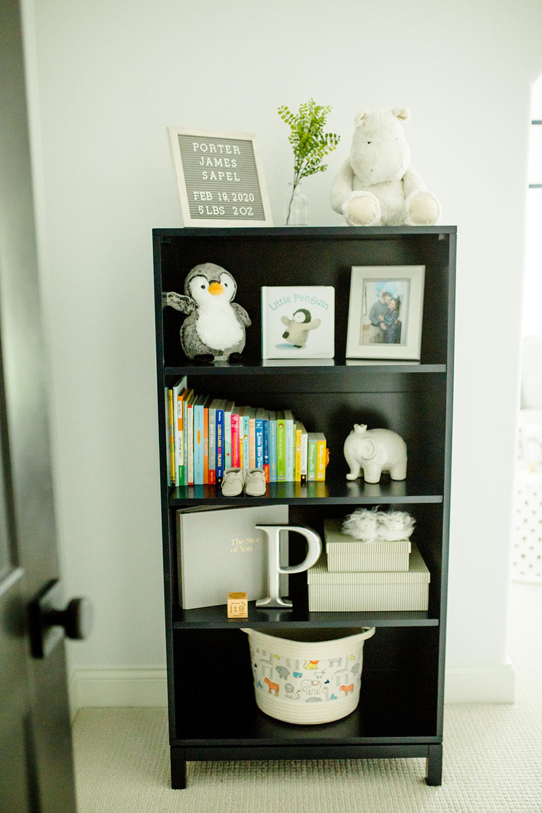 kids navy bookshelf