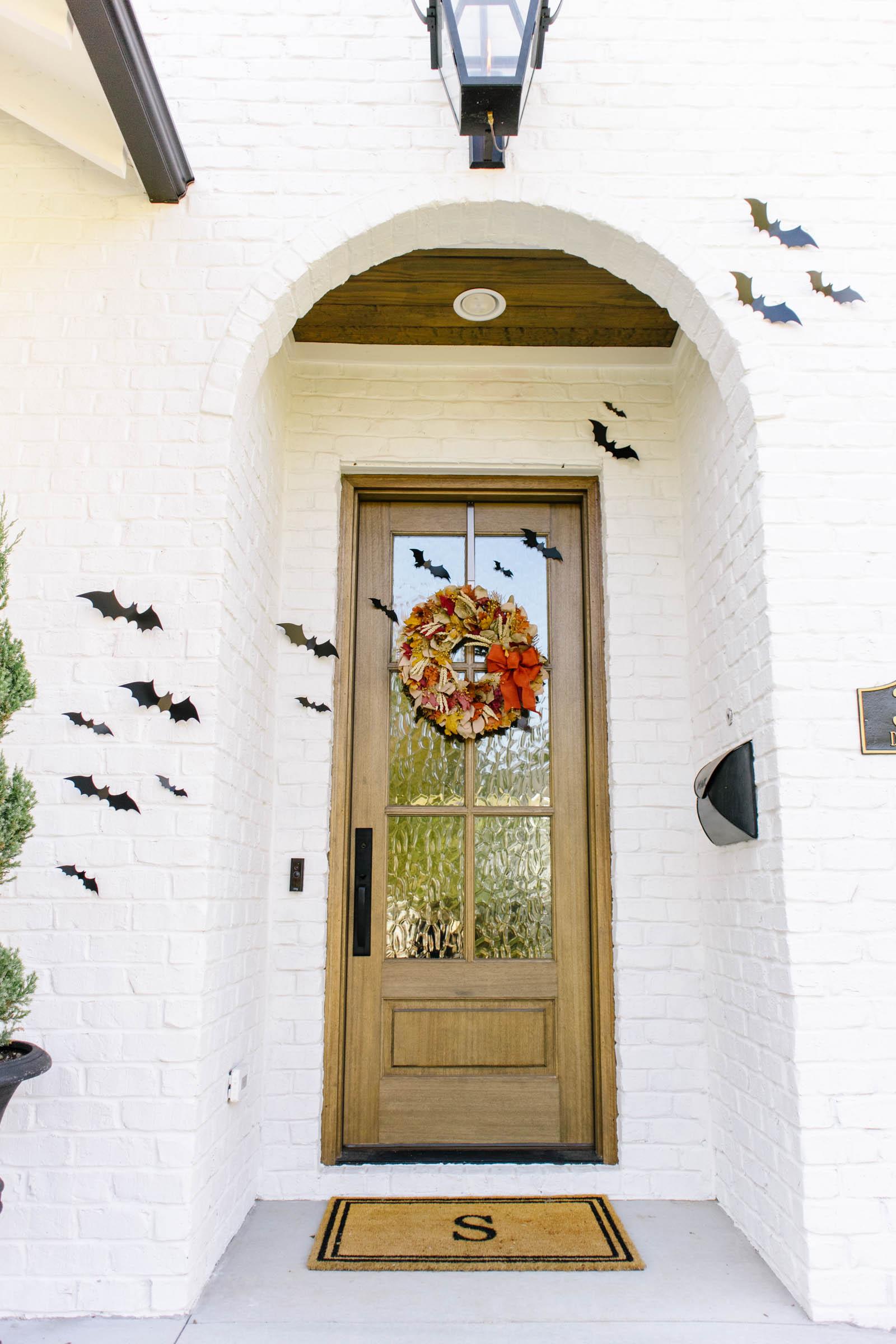 halloween front door bats