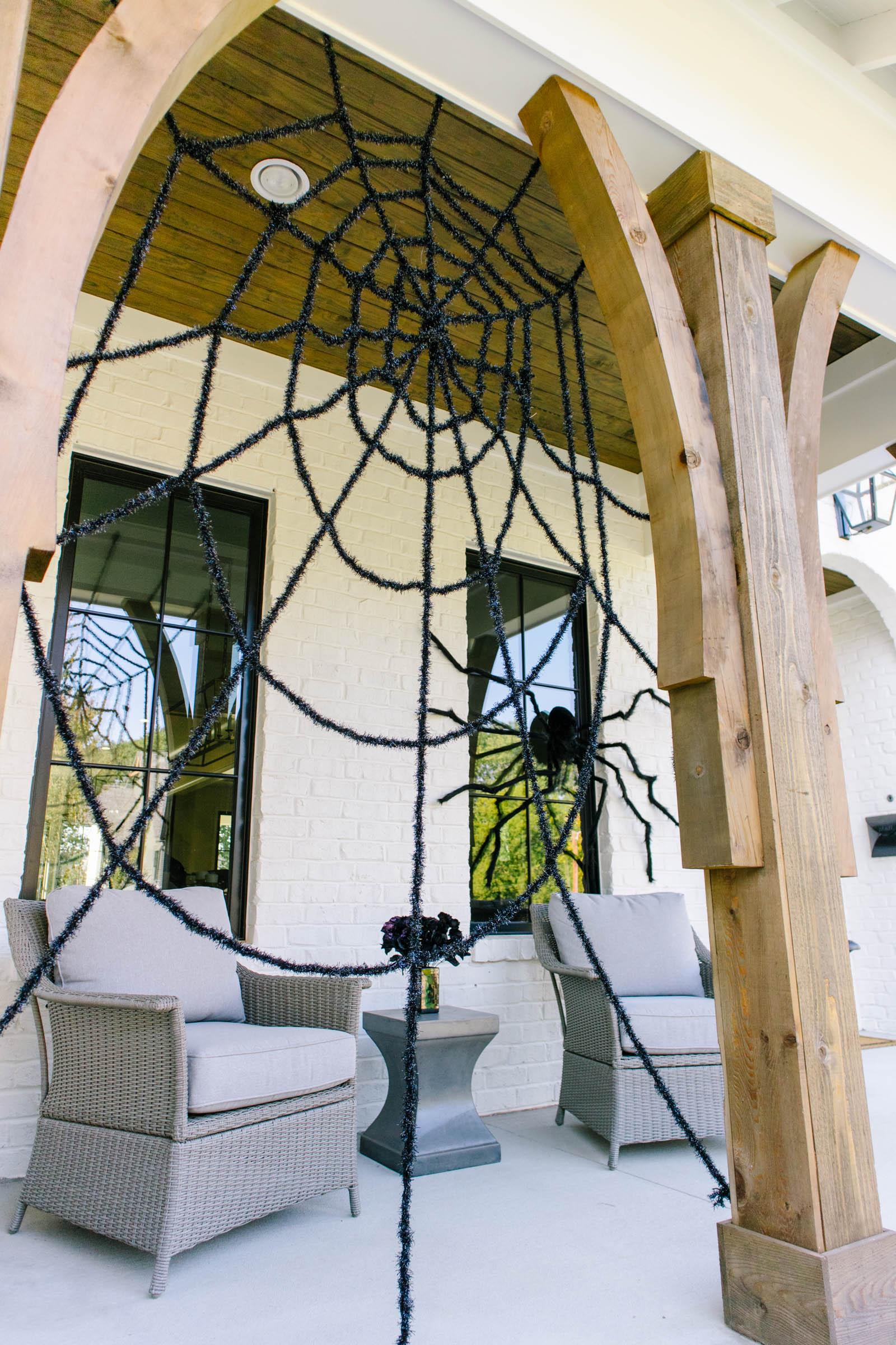 halloween decor spider web