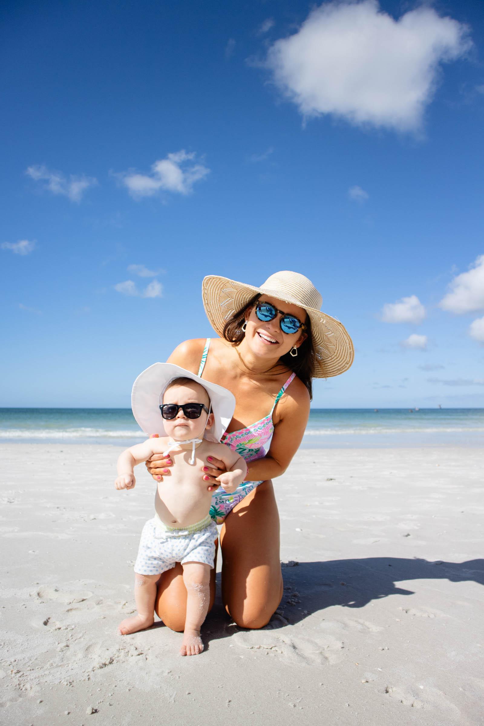 baby first beach trip