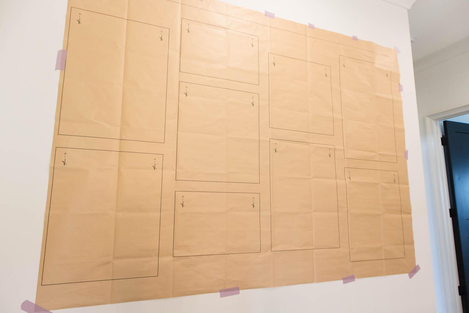 framebridge gallery wall template