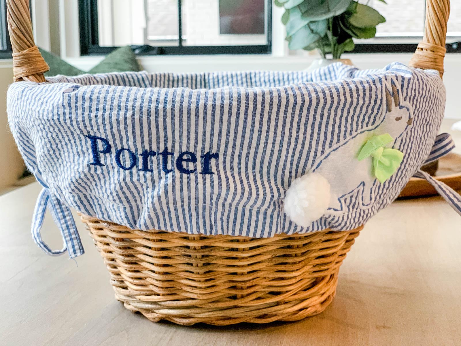 pottery barn easter basket liner