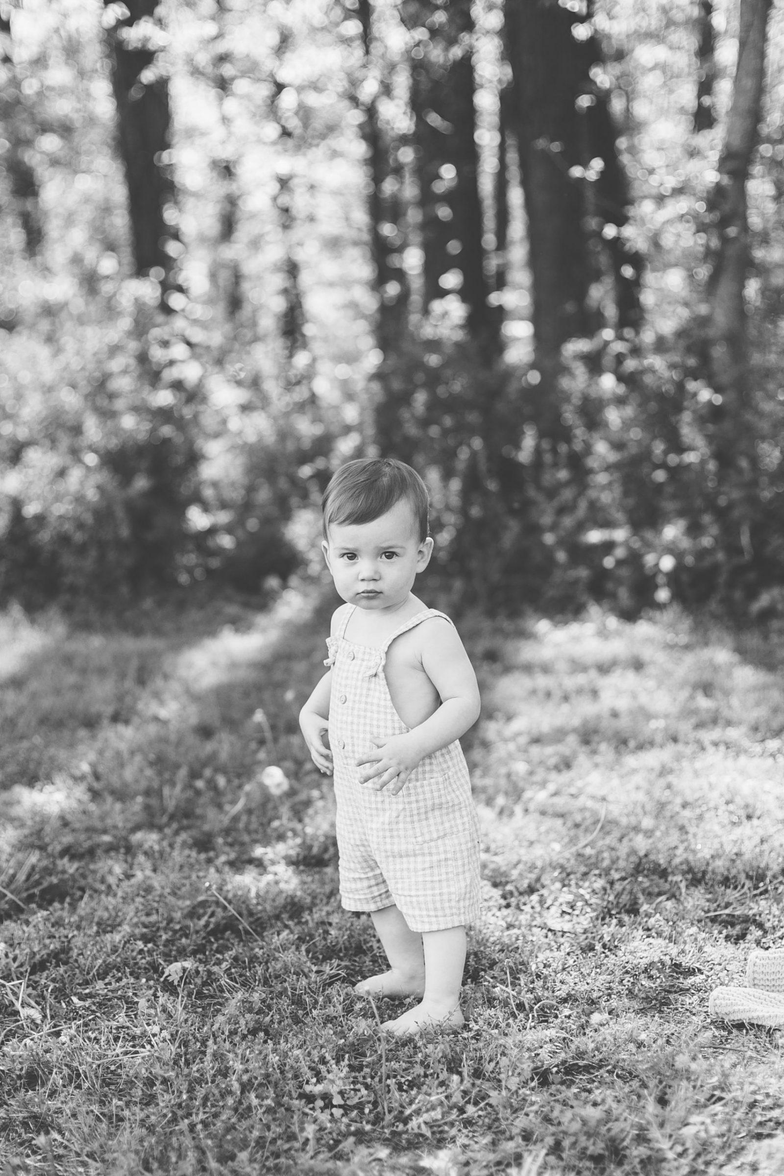 baby boy black & white photos