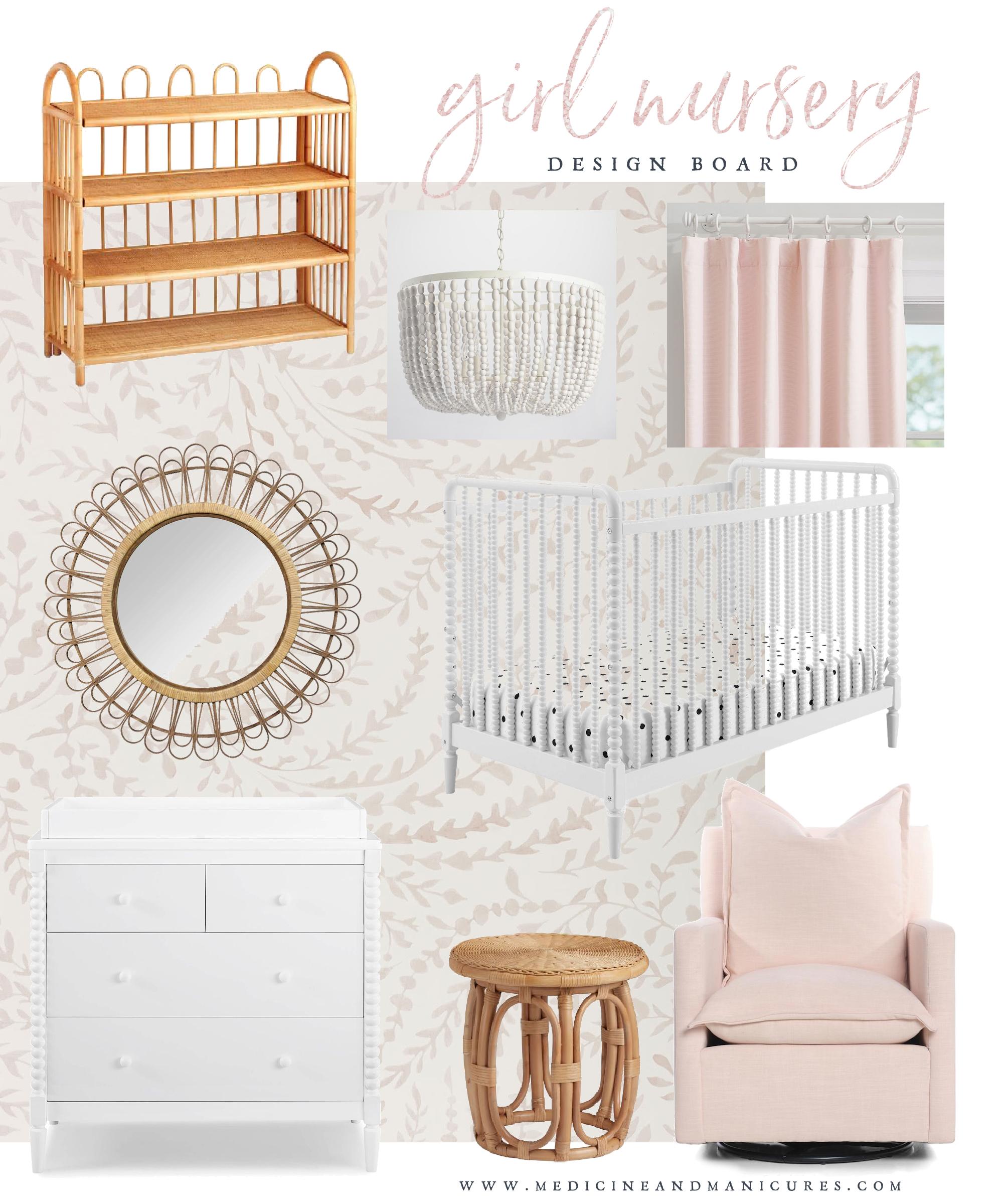 girl nursery design board